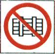 Запрещается загромождать и (или) складировать