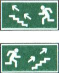 Направление к эвакуационному выходу (по лестнице вверх)